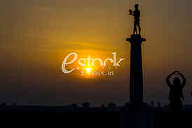 Pobednik monument Belgrade Serbia